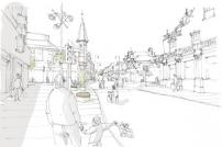 Artist's impression from UI Studios of how Dovercourt High Street may look