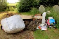 Fly-tipping in Clay Lane, St Osyth Cemetery
