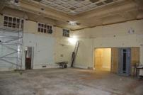 The former housing reception and original committee room undergoing initial work.