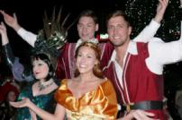Dan Osborne with panto cast