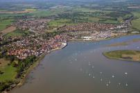 Aerial photo of The Stour at Manningtree