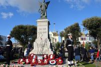 Clacton War Memorial after the Remembrance Service 2019