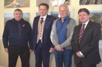 Councillor Paul Honeywood, Councillor Neil Stock, Professor Philip Alston and Ian Davidson during a visit by the UN.