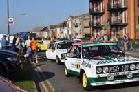 Some of the cars that took part in the previous rally parked up
