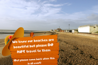 Message not to travel to our beaches until restrictions lifted