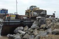 Unloading rocks