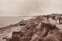 Holland beach in 1937, sepia photograph