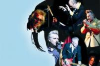 Images of Billy Fury and the Furys Tornados against blue background