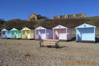 Beach huts on the beach