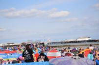 The view of the pier above the crowd enjoying the air show last year