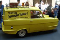 Trotters Independent Traders yellow van